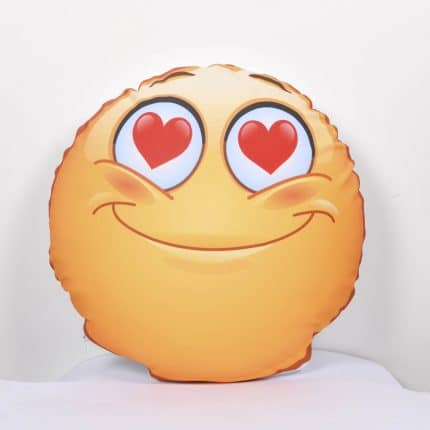 coussin smiley coeur